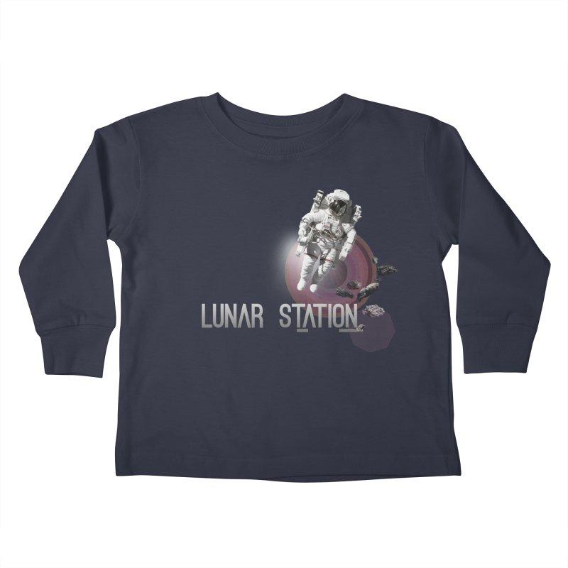 Lunar Station Kids Toddler Longsleeve T-Shirt by virbia's Artist Shop