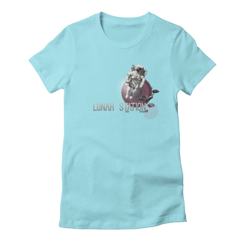 Lunar Station Women's Fitted T-Shirt by virbia's Artist Shop