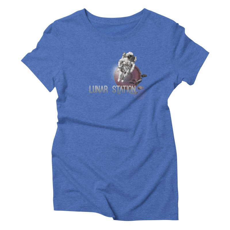 Lunar Station Women's Triblend T-Shirt by virbia's Artist Shop