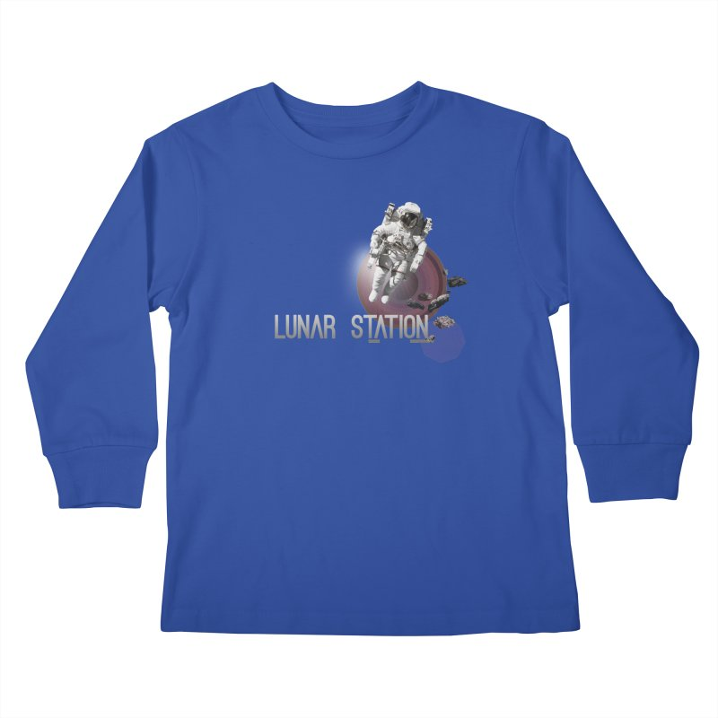 Lunar Station Kids Longsleeve T-Shirt by virbia's Artist Shop
