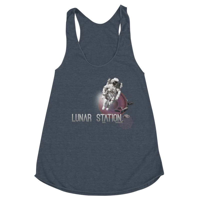 Lunar Station Women's Racerback Triblend Tank by virbia's Artist Shop