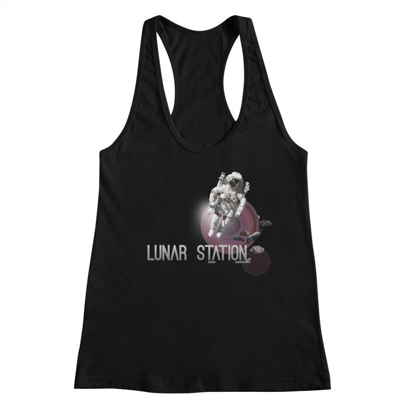 Lunar Station Women's Racerback Tank by virbia's Artist Shop