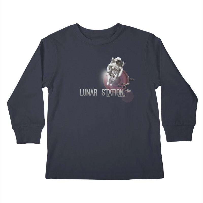 Lunar Station Kids Longsleeve T-Shirt by virbia's Artist Shop