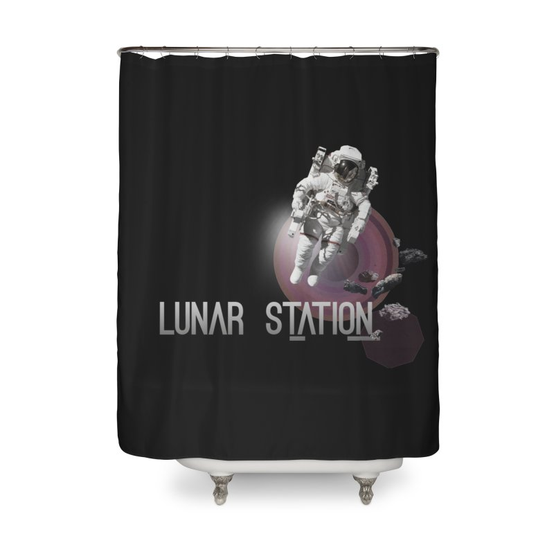 Lunar Station Home Shower Curtain by virbia's Artist Shop