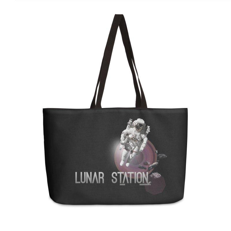 Lunar Station Accessories Weekender Bag Bag by virbia's Artist Shop