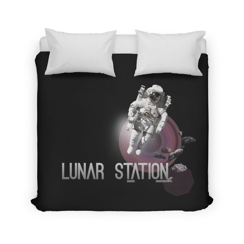 Lunar Station Home Duvet by virbia's Artist Shop