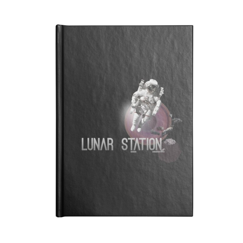 Lunar Station Accessories Lined Journal Notebook by virbia's Artist Shop