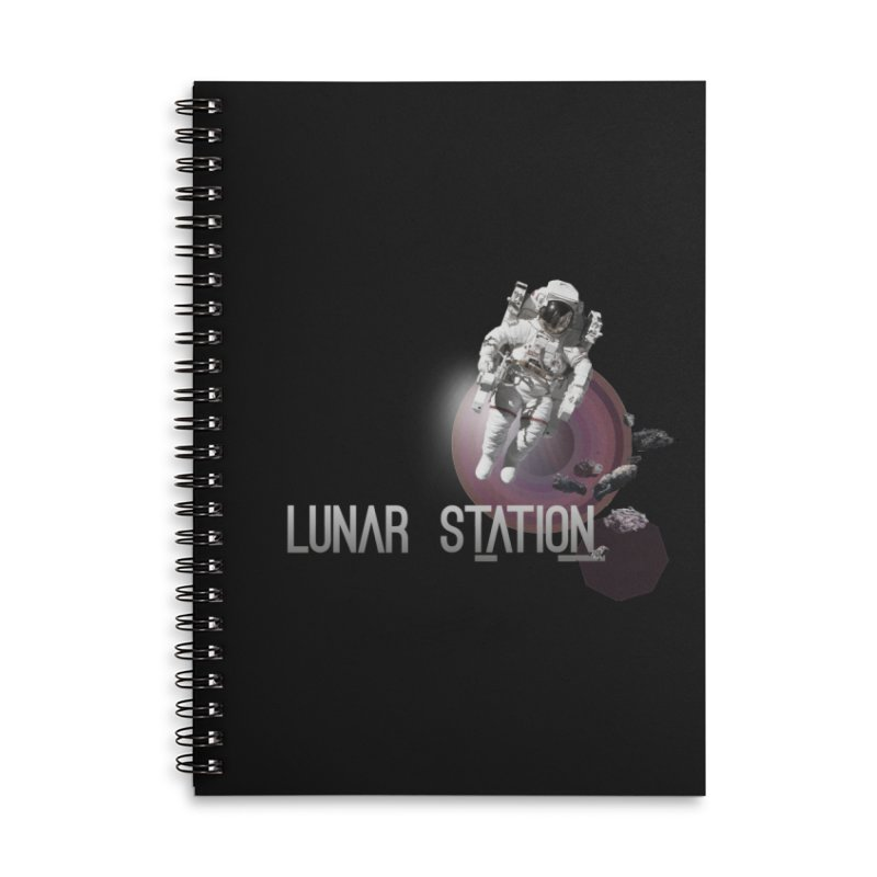 Lunar Station Accessories Lined Spiral Notebook by virbia's Artist Shop