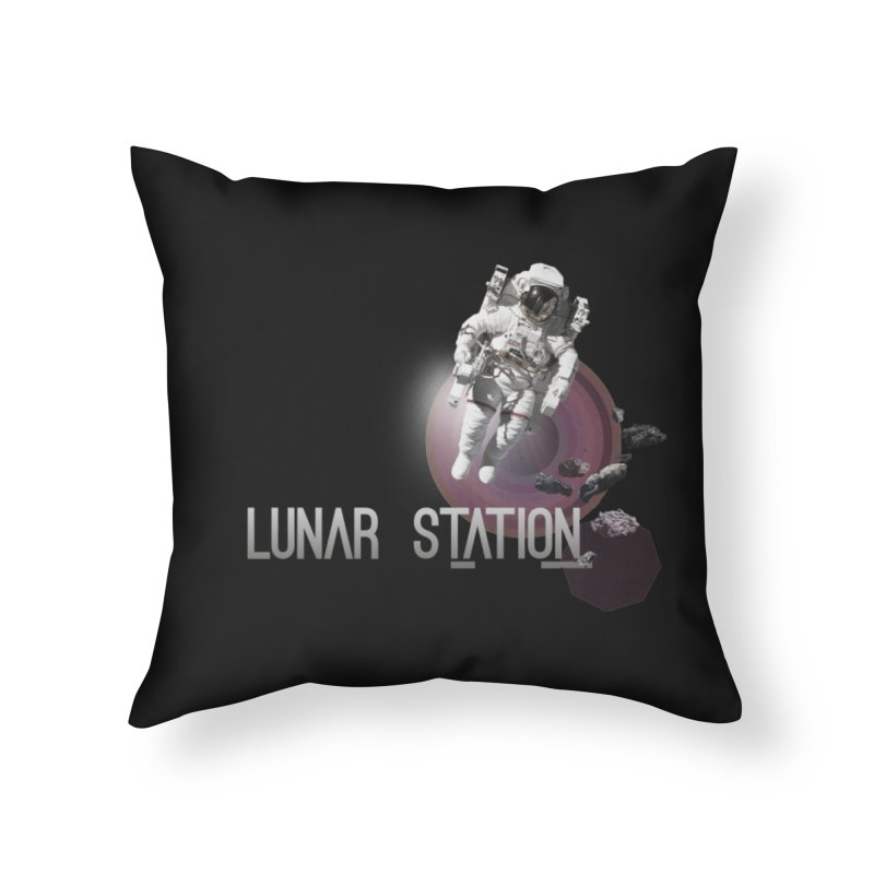 Lunar Station Home Throw Pillow by virbia's Artist Shop