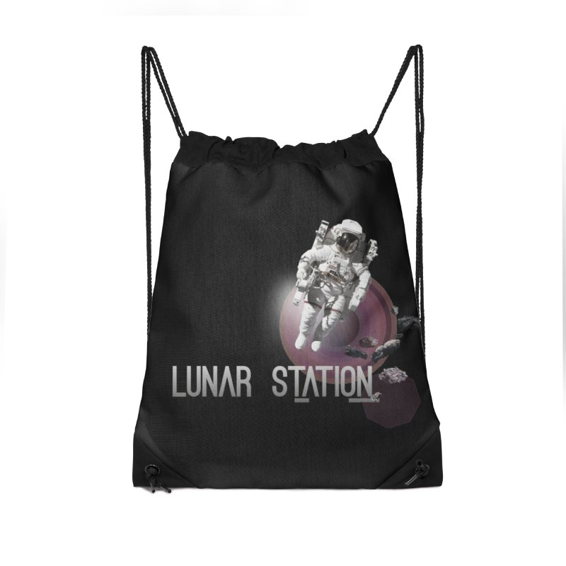 Lunar Station Accessories Drawstring Bag Bag by virbia's Artist Shop