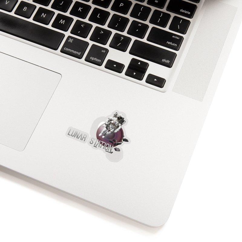 Lunar Station Accessories Sticker by virbia's Artist Shop