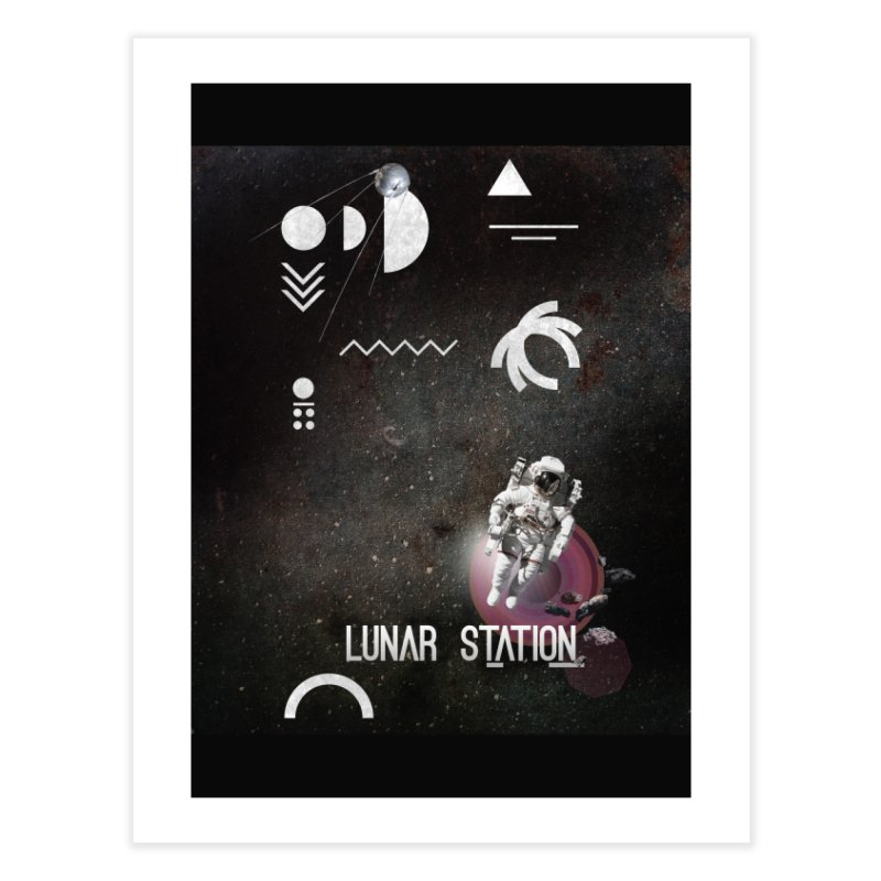 Lunar Station Home Fine Art Print by virbia's Artist Shop