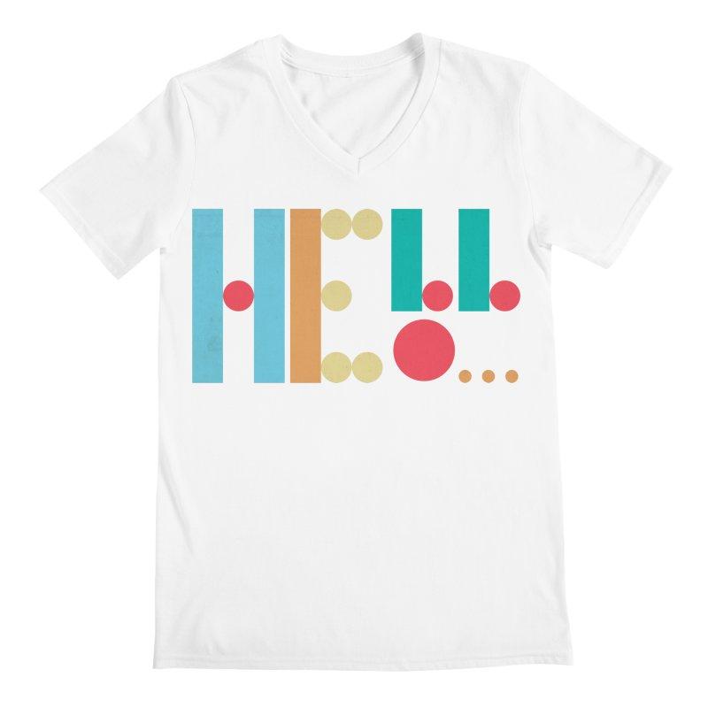 Retro Hello Men's V-Neck by virbia's Artist Shop