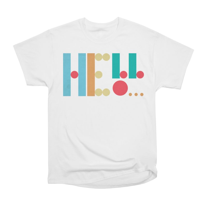 Retro Hello Men's Heavyweight T-Shirt by virbia's Artist Shop