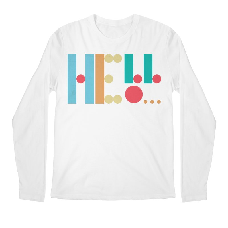 Retro Hello Men's Regular Longsleeve T-Shirt by virbia's Artist Shop