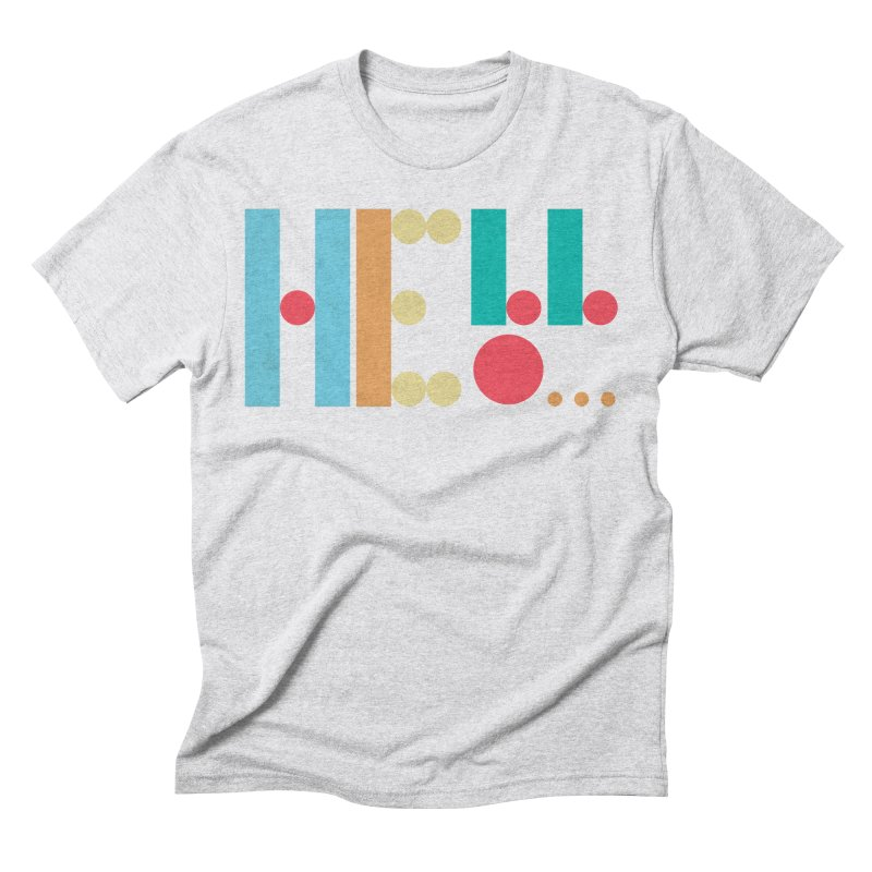 Retro Hello Men's Triblend T-Shirt by virbia's Artist Shop