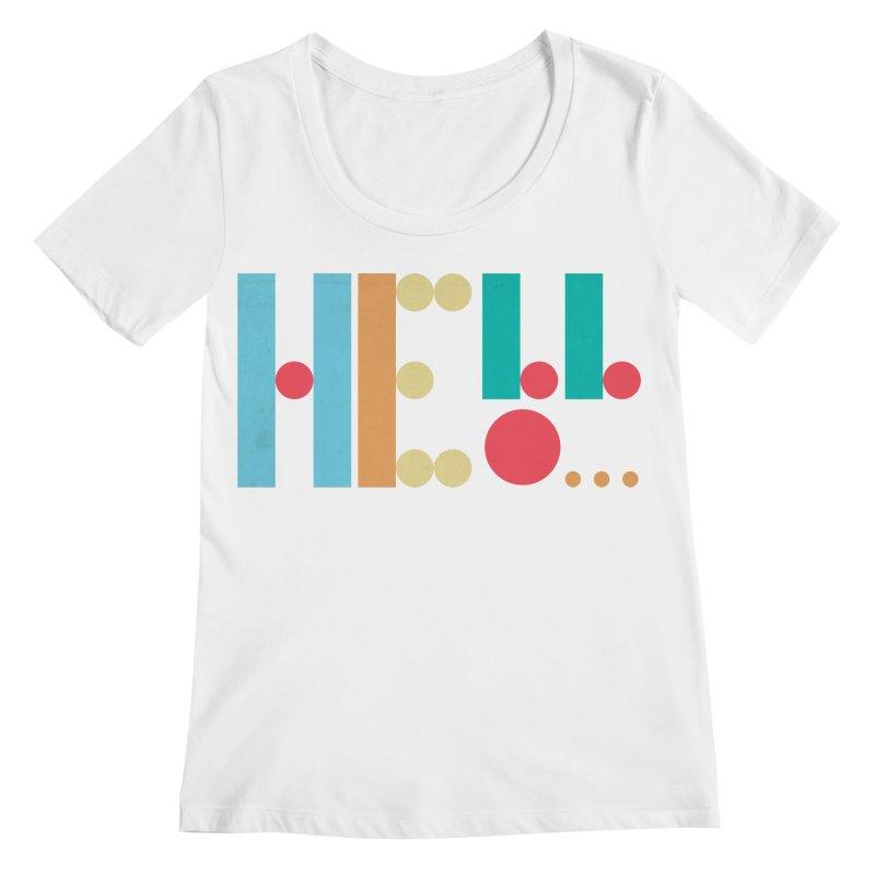 Retro Hello Women's Regular Scoop Neck by virbia's Artist Shop