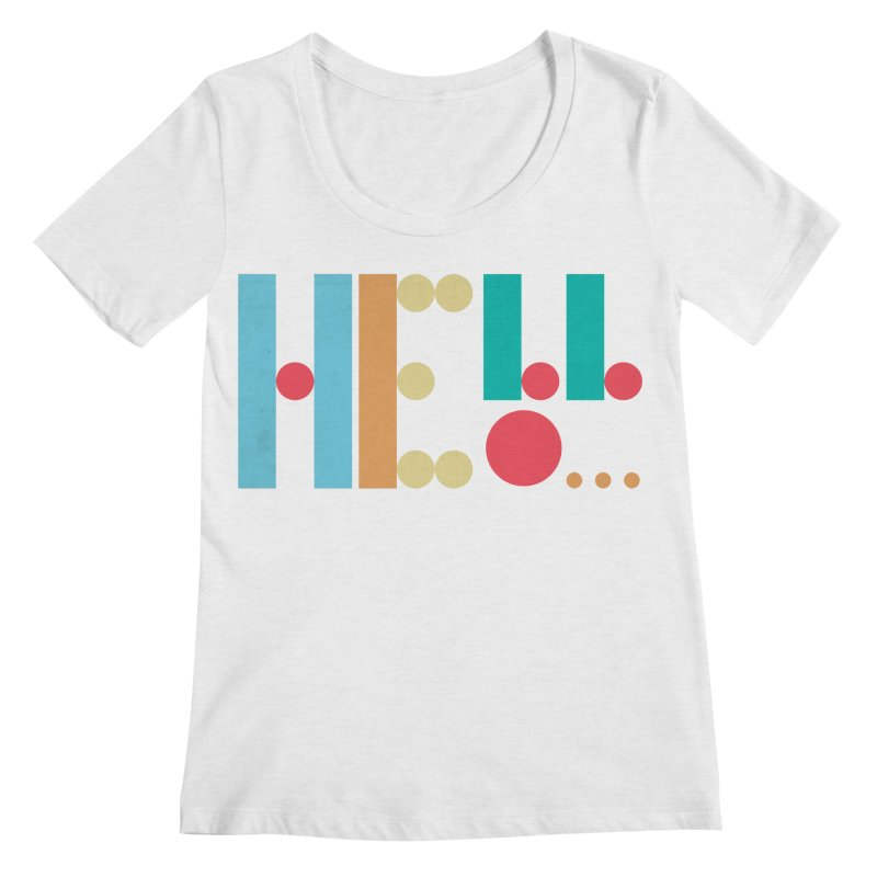 Retro Hello Women's Scoop Neck by virbia's Artist Shop