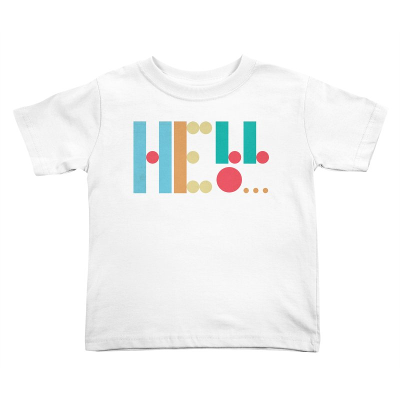 Retro Hello Kids Toddler T-Shirt by virbia's Artist Shop