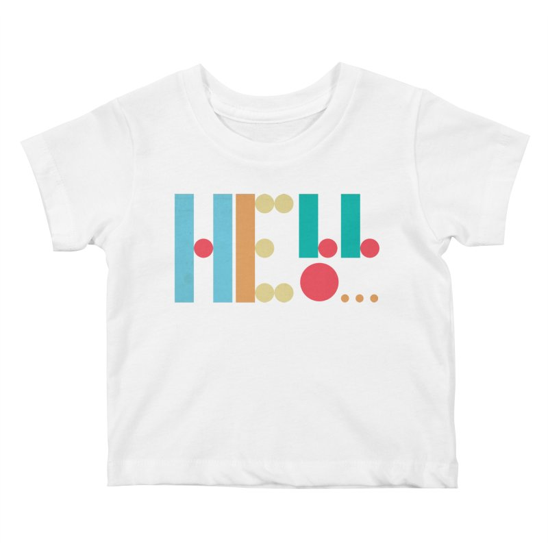 Retro Hello Kids Baby T-Shirt by virbia's Artist Shop