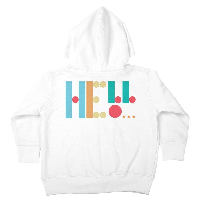 Retro Hello Kids Toddler Zip-Up Hoody by virbia's Artist Shop