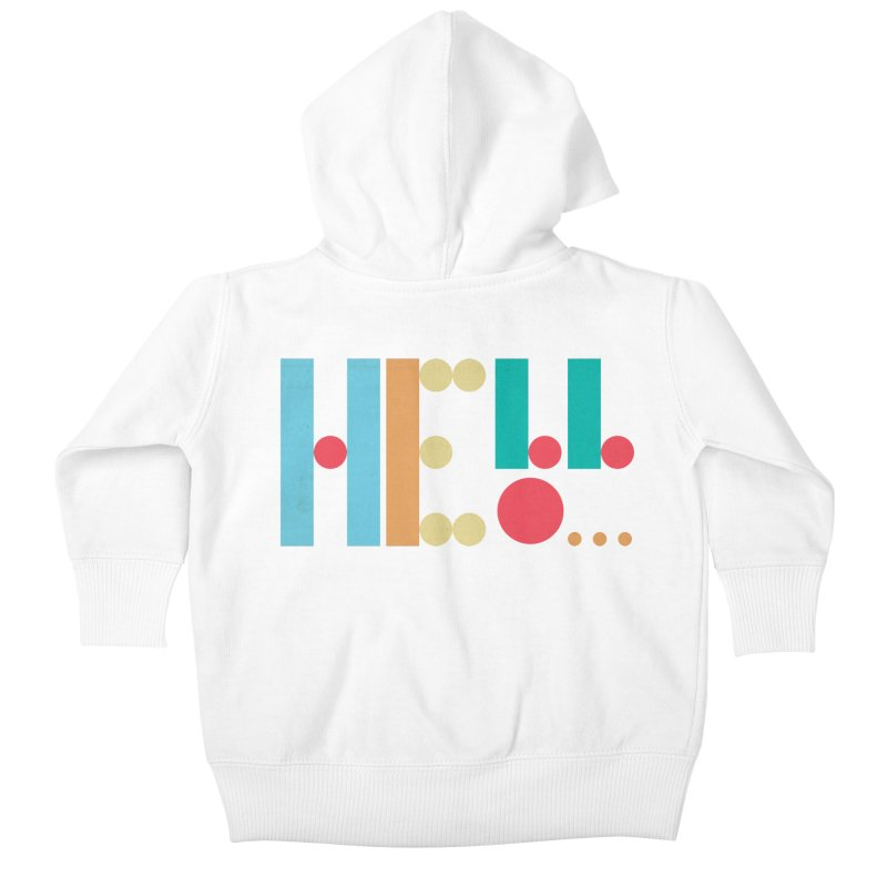 Retro Hello Kids Baby Zip-Up Hoody by virbia's Artist Shop
