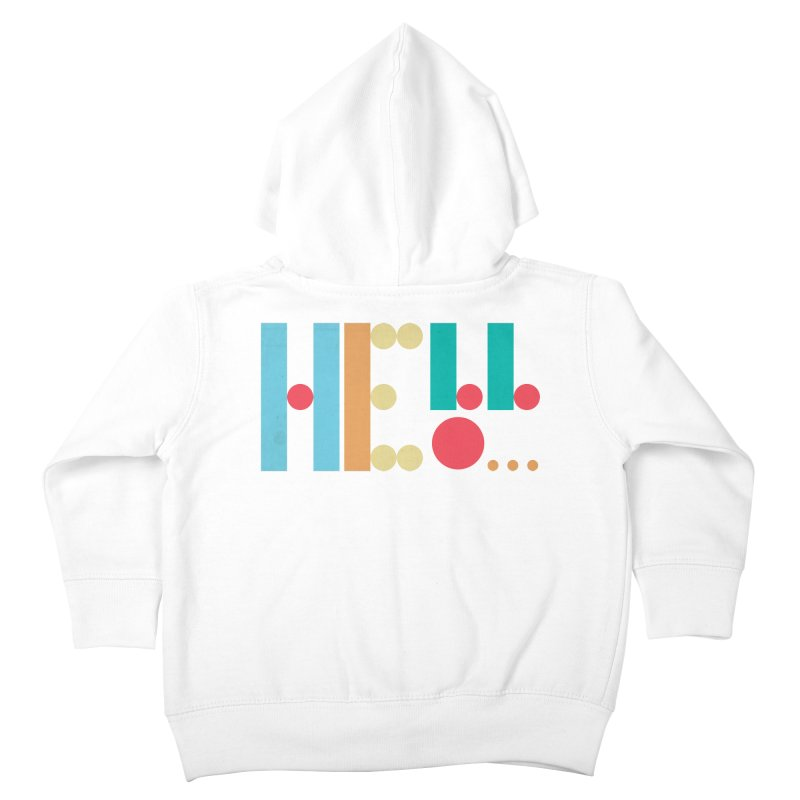 Retro Hello Kids Toddler Zip-Up Hoody by virbia's Artist Shop