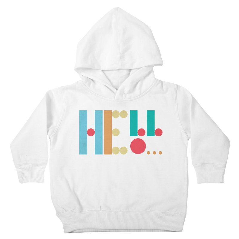 Retro Hello Kids Toddler Pullover Hoody by virbia's Artist Shop