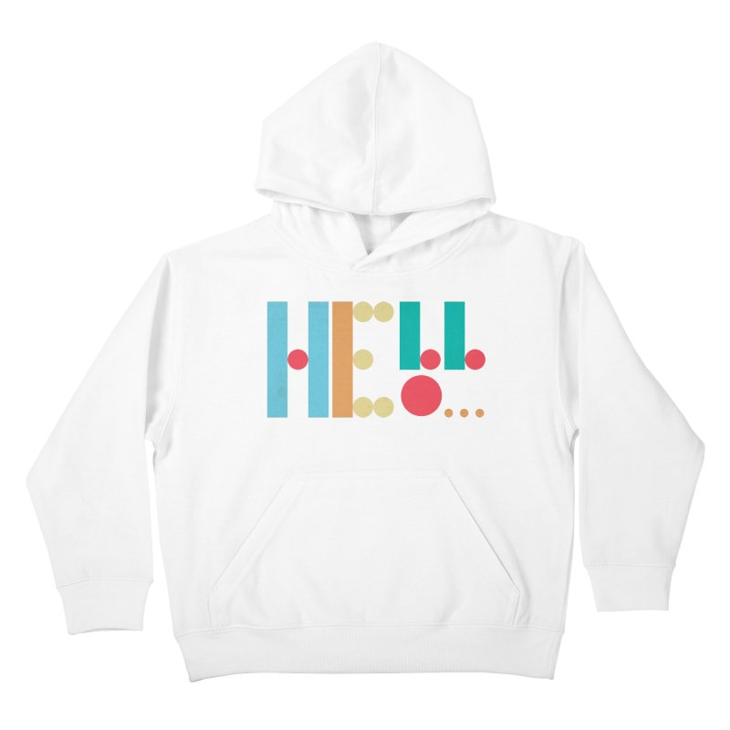 Retro Hello Kids Pullover Hoody by virbia's Artist Shop