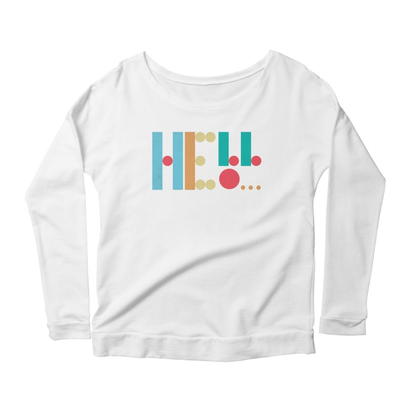 Retro Hello Women's Scoop Neck Longsleeve T-Shirt by virbia's Artist Shop