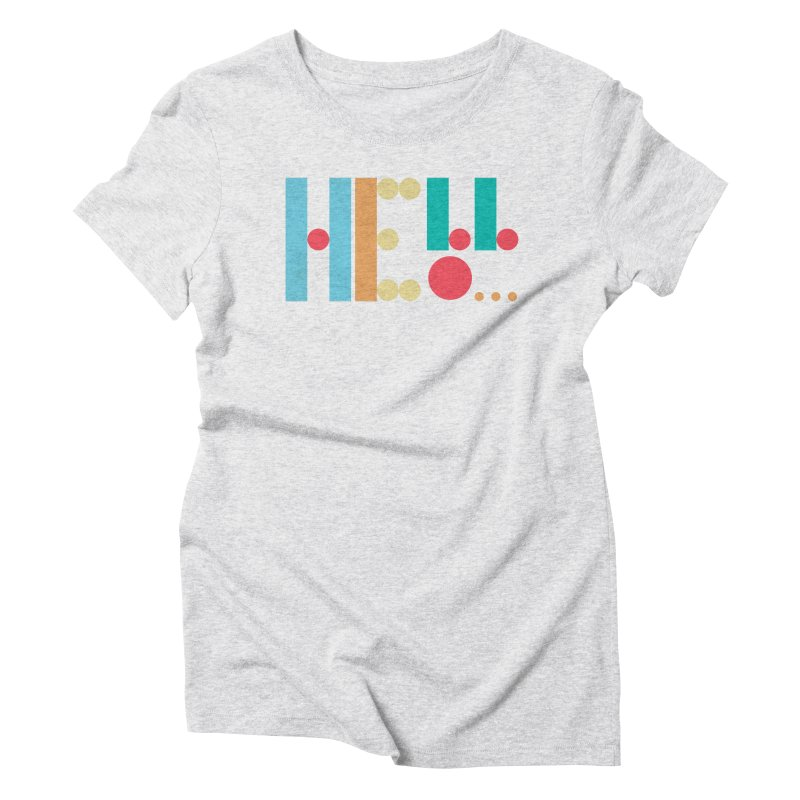 Retro Hello Women's Triblend T-Shirt by virbia's Artist Shop
