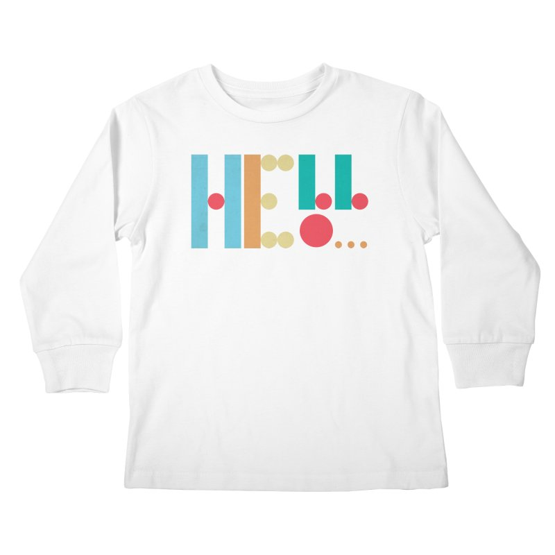 Retro Hello Kids Longsleeve T-Shirt by virbia's Artist Shop