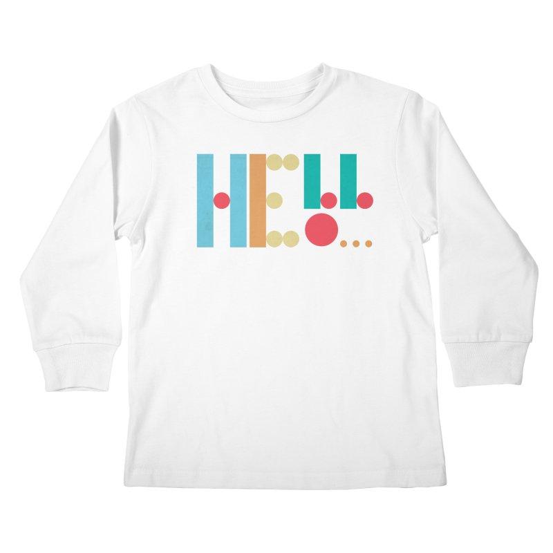 Retro Hello Kids Longsleeve T-Shirt by virbia's Artist Shop