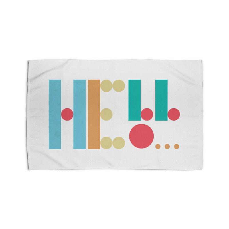 Retro Hello Home Rug by virbia's Artist Shop