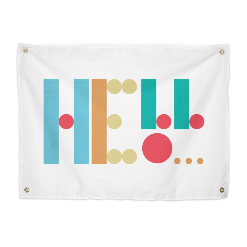 Retro Hello Home Tapestry by virbia's Artist Shop