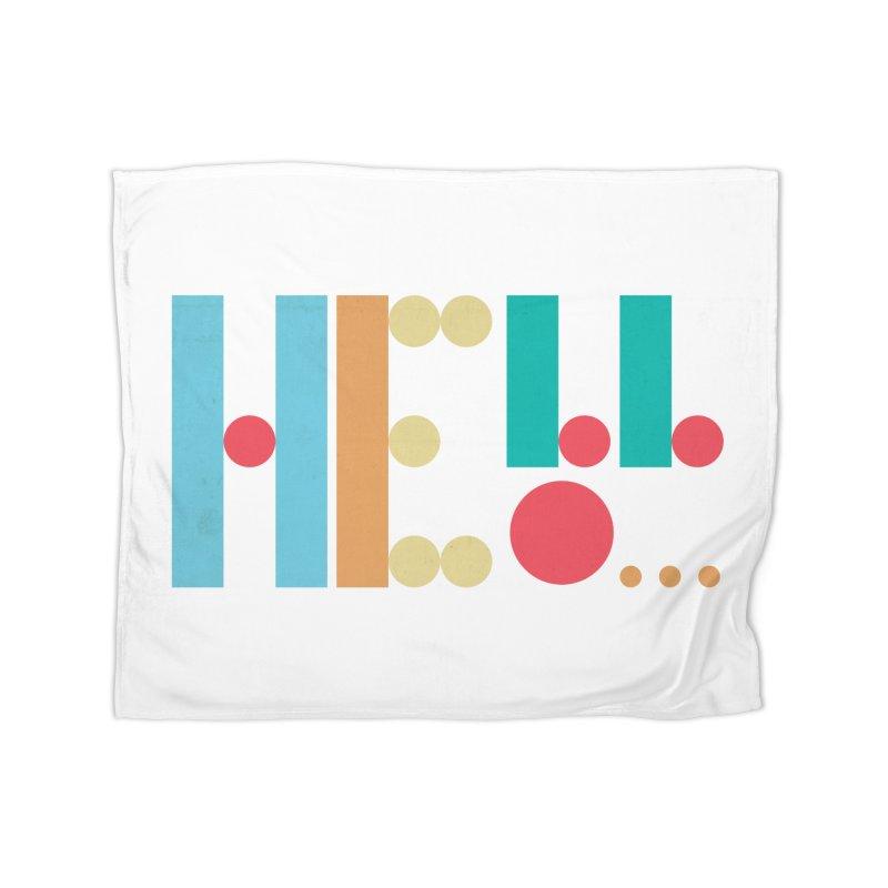 Retro Hello Home Blanket by virbia's Artist Shop