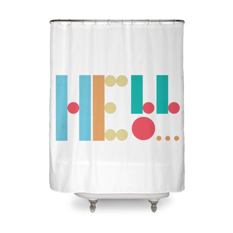 Retro Hello Home Shower Curtain by virbia's Artist Shop
