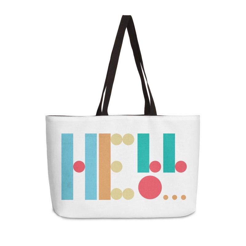 Retro Hello Accessories Weekender Bag Bag by virbia's Artist Shop