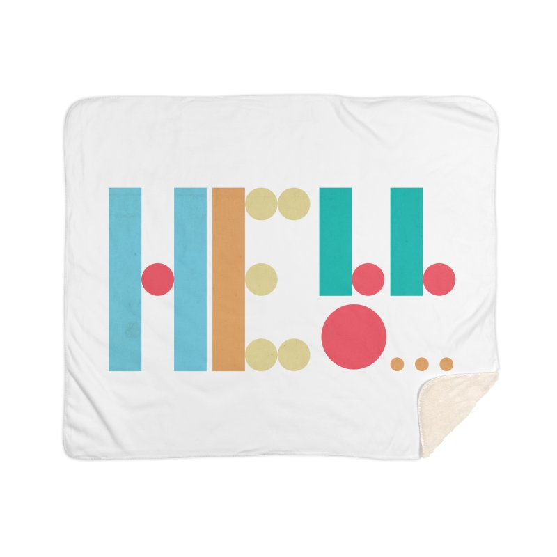 Retro Hello Home Sherpa Blanket Blanket by virbia's Artist Shop