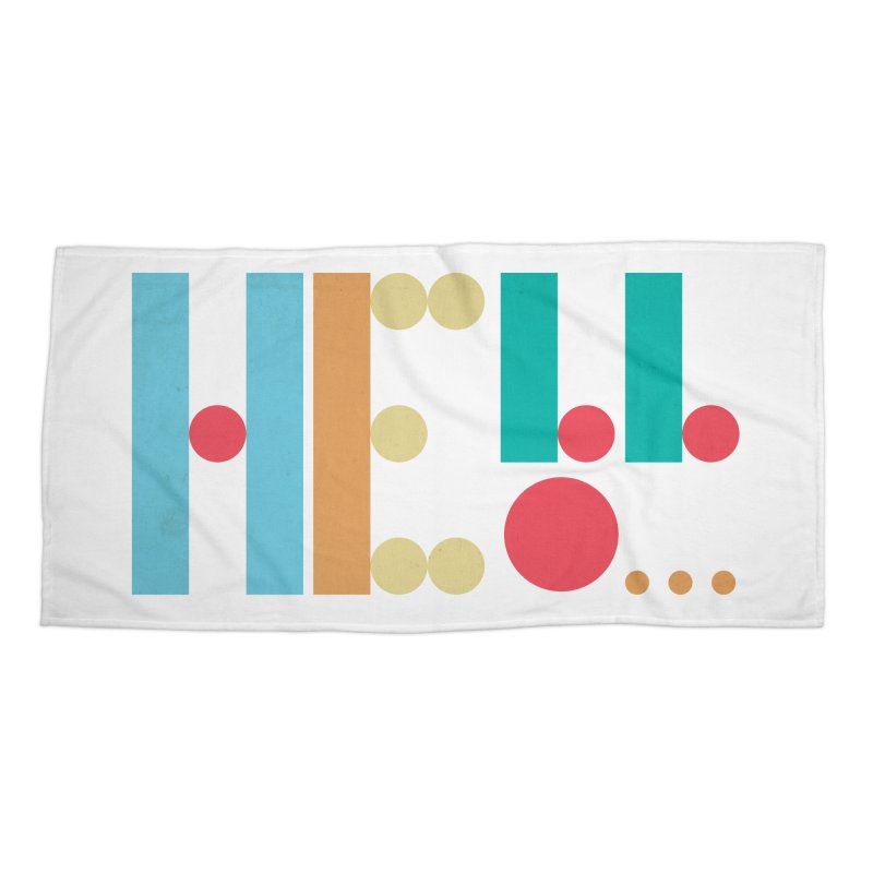 Retro Hello Accessories Beach Towel by virbia's Artist Shop
