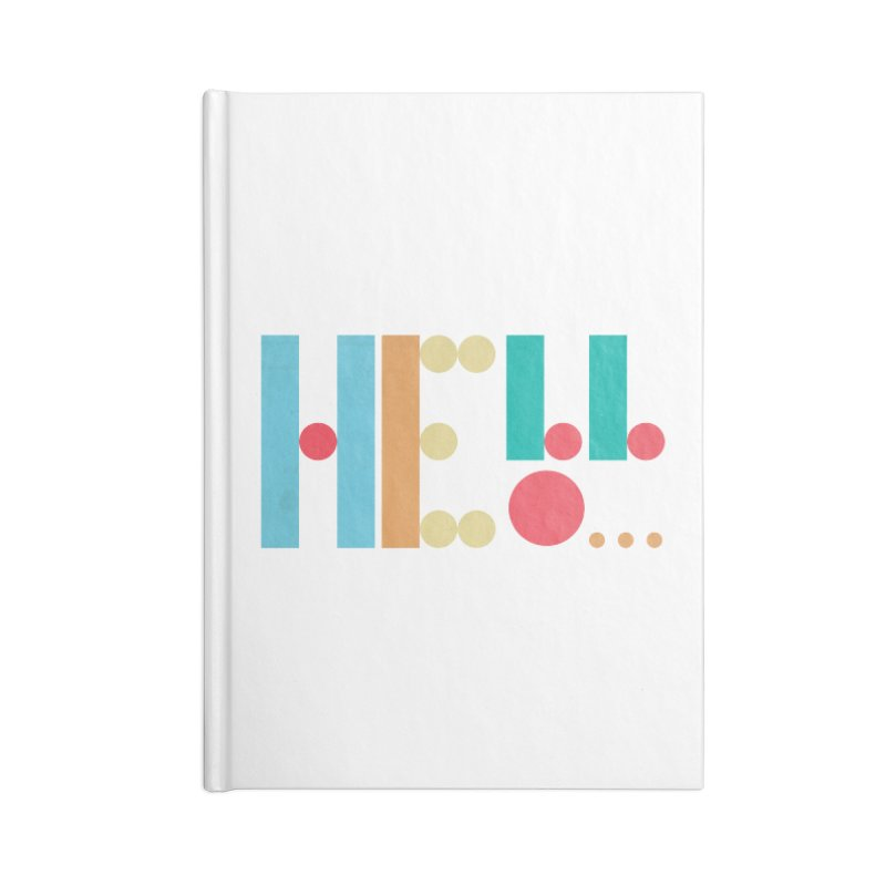 Retro Hello Accessories Lined Journal Notebook by virbia's Artist Shop