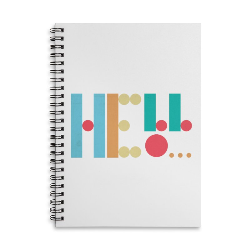 Retro Hello Accessories Lined Spiral Notebook by virbia's Artist Shop