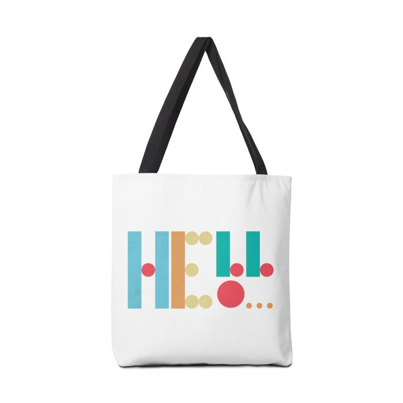 Retro Hello Accessories Bag by virbia's Artist Shop