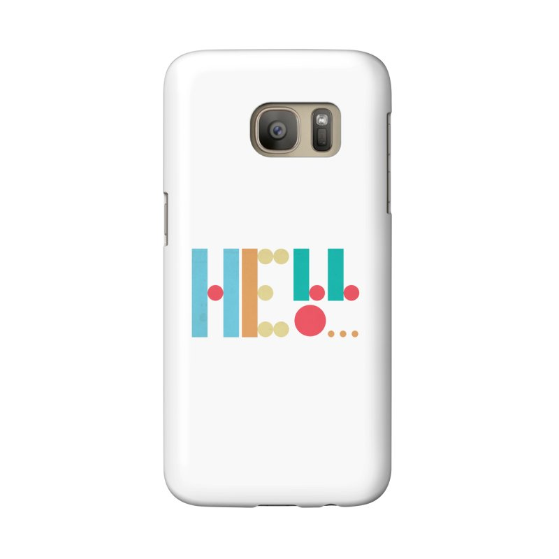 Retro Hello Accessories Phone Case by virbia's Artist Shop