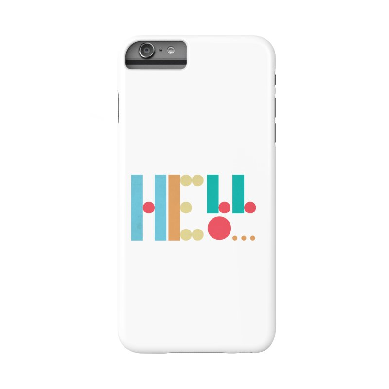 Retro Hello Accessories Phone Case by virbia's Artist Shop