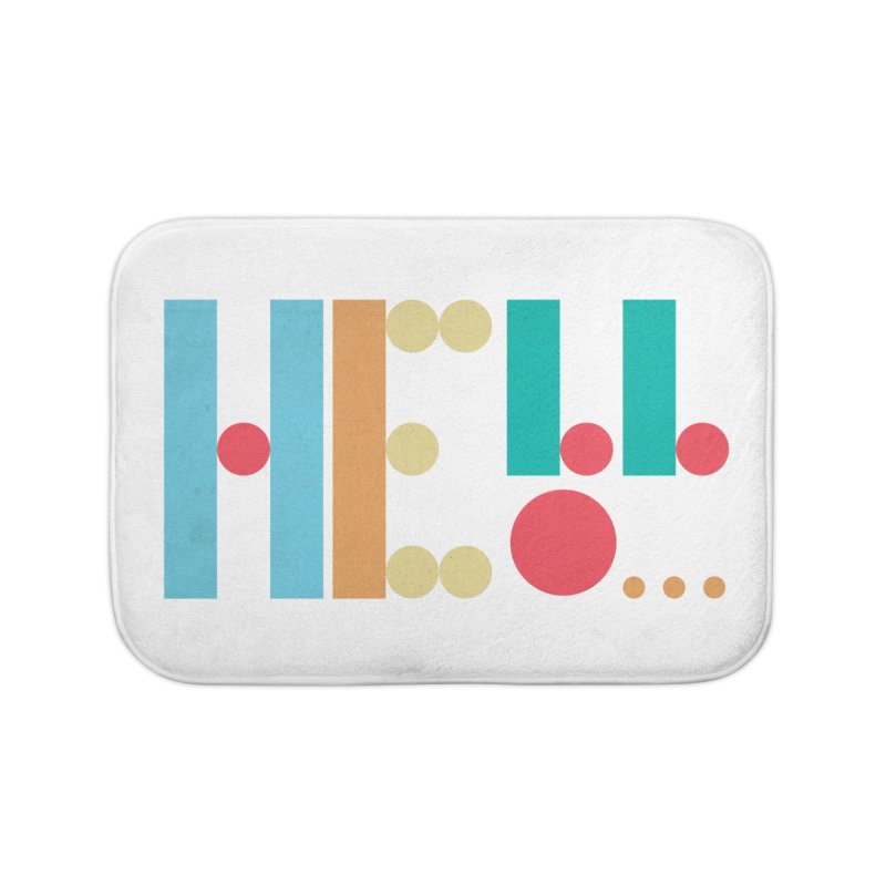 Retro Hello Home Bath Mat by virbia's Artist Shop