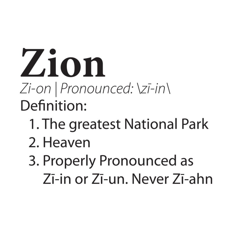 Zion Pronunciation Men's T-Shirt by Virtual Running Club Merch