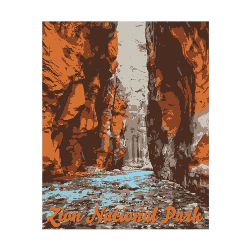 Zion - The Narrows Men's T-Shirt by Virtual Running Club Merch