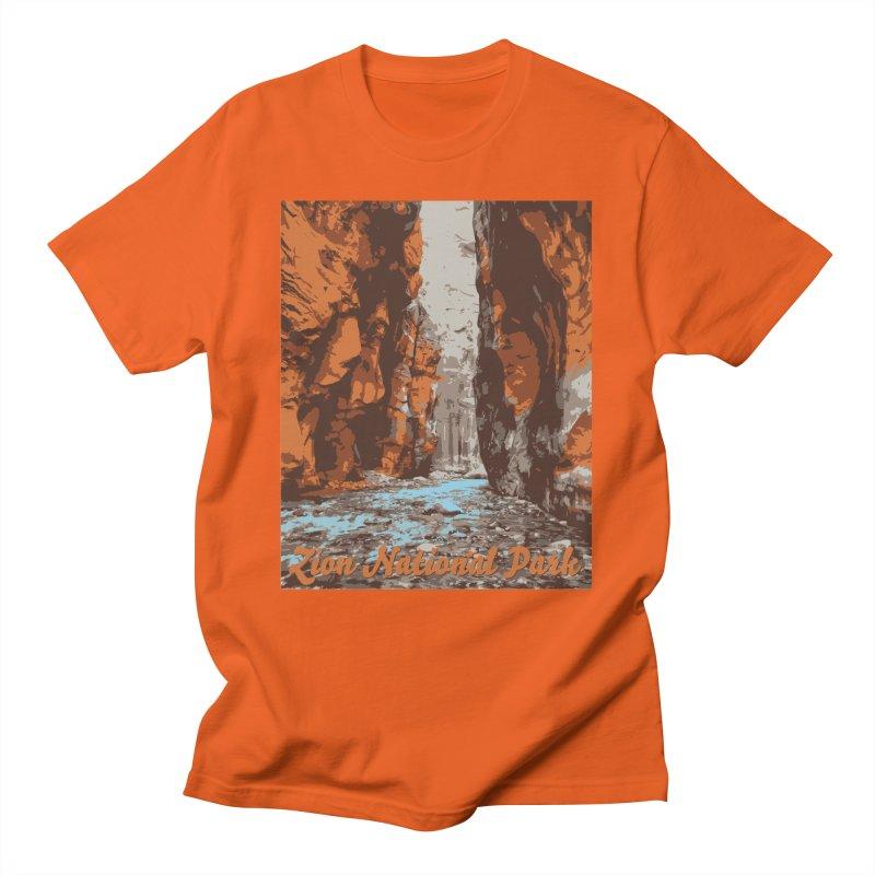 Zion - The Narrows Men's T-Shirt by Virtual Running Club Merch