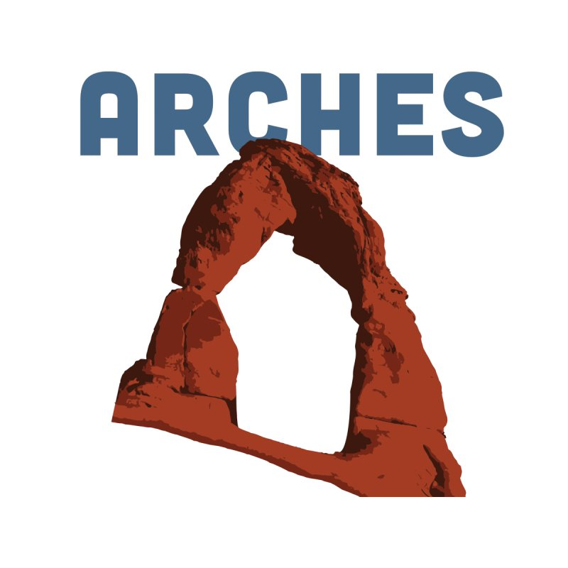 (Delicate) Arches Men's T-Shirt by Virtual Running Club Merch